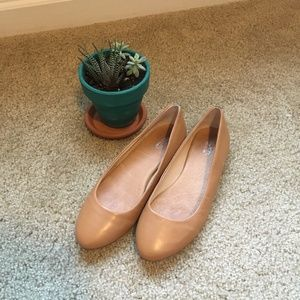 Nude Leather Dr. Scholl's Flats